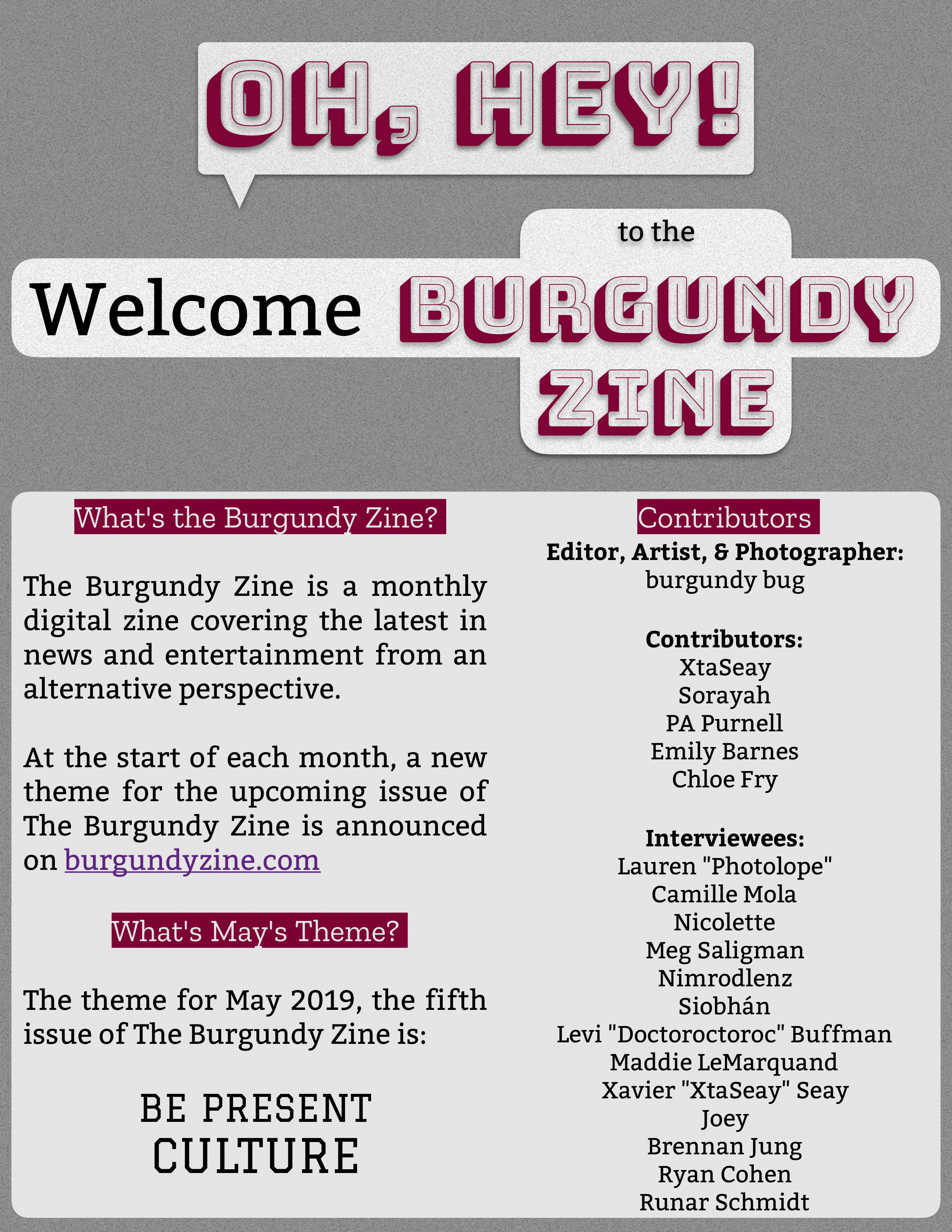 The Burgundy Zine #5 Be Present – Culture Pg. 02