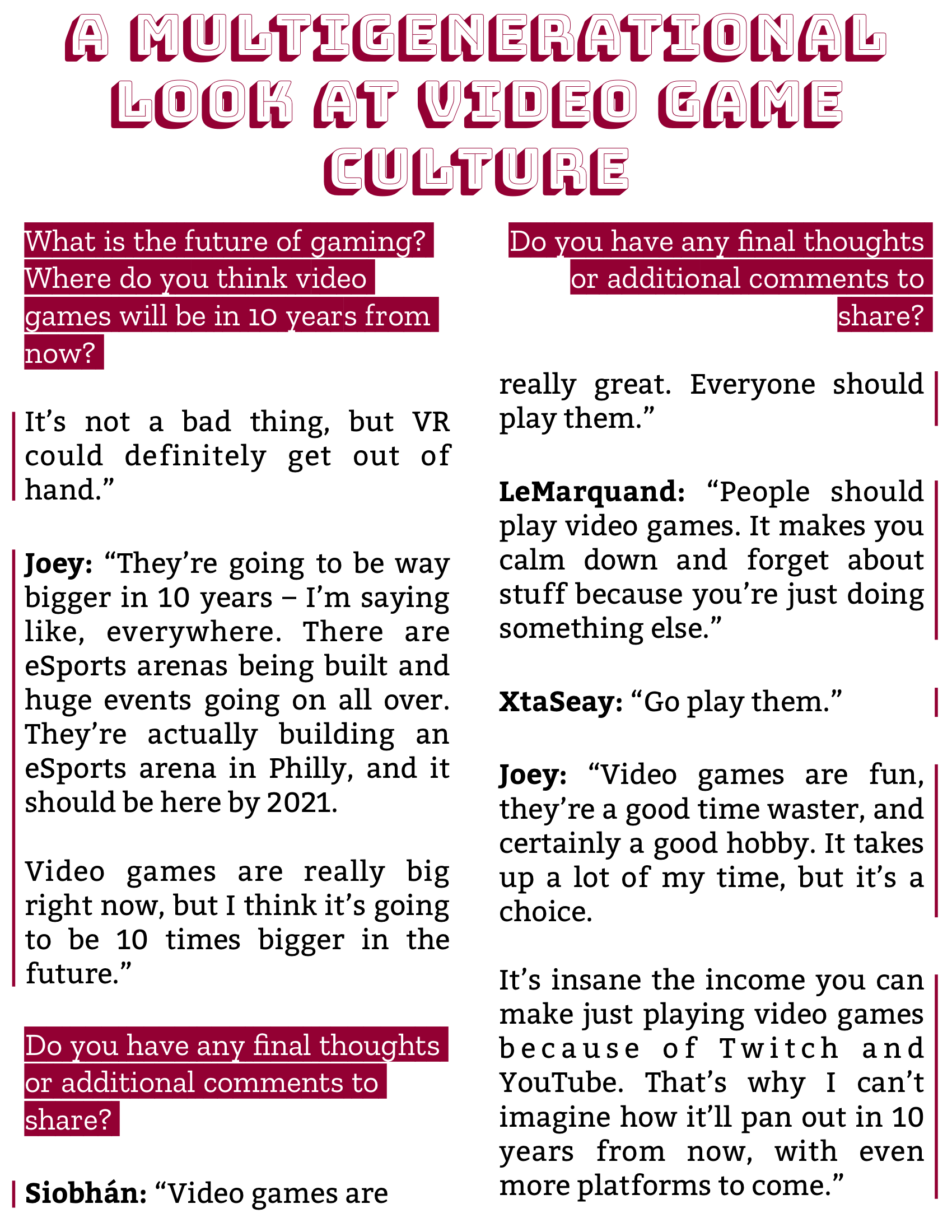 The Burgundy Zine #5: Culture Pg. 100