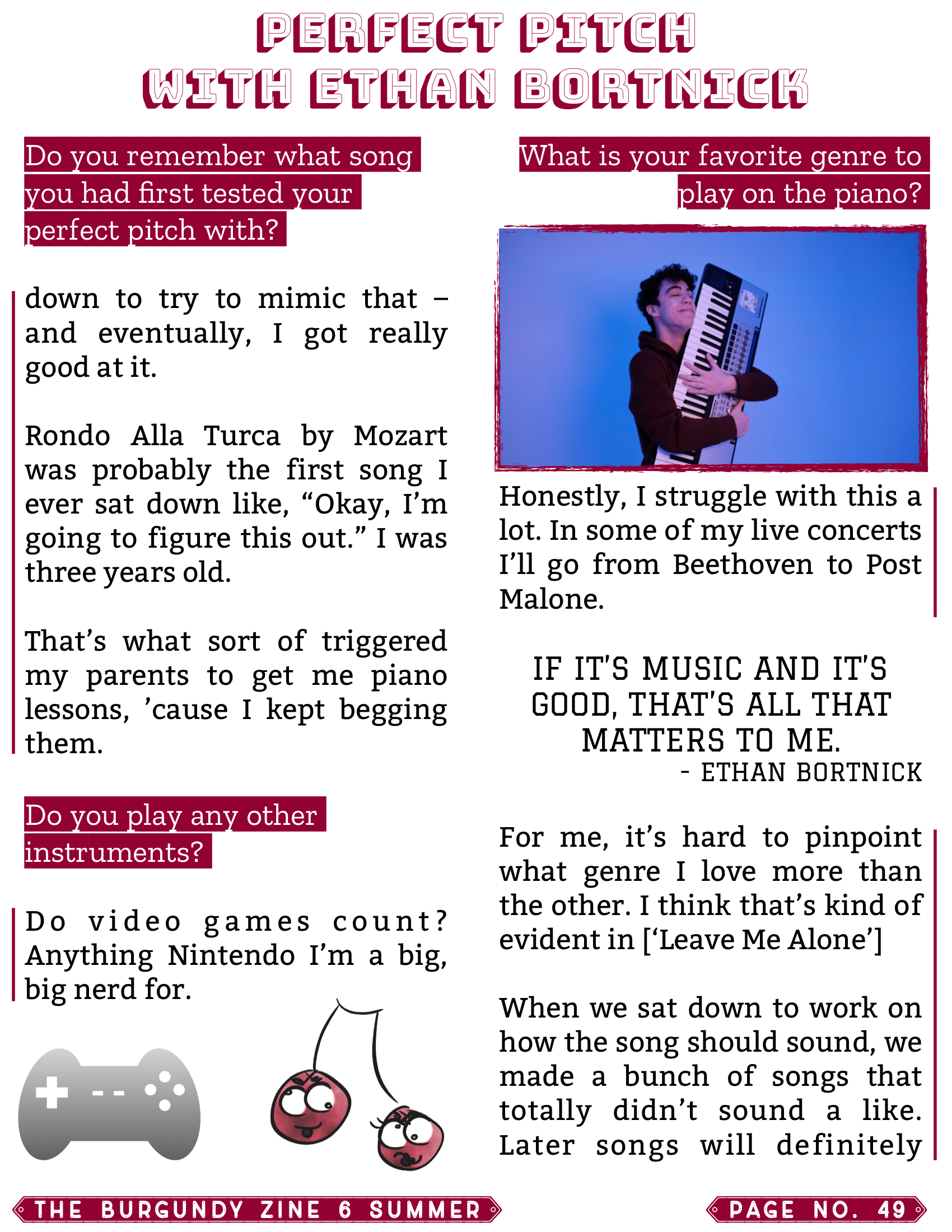 The Burgundy Zine #6: Summer Pg. 49