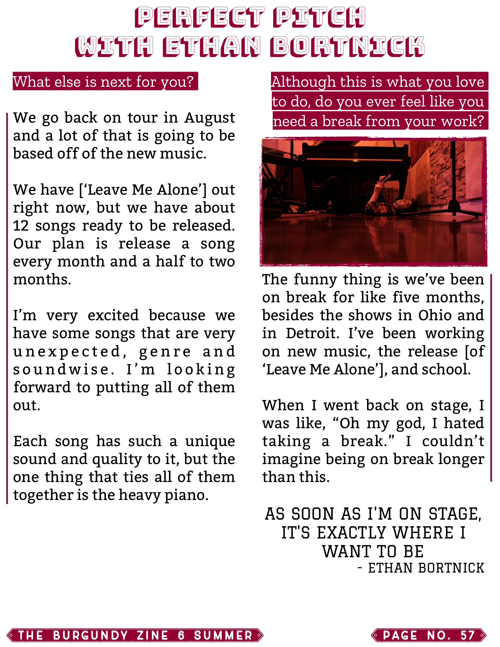 The Burgundy Zine #6: Summer Pg. 57